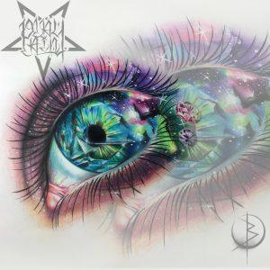 Реалистичный глаз с космосом, эскиз для тату на спине либо татуировки на руке