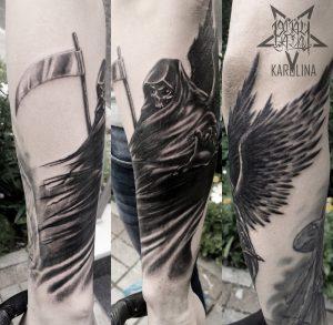 Фрихенд татуировка на руке