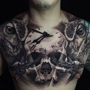 Тату на груди. Мы поможем подобрать вам лучшую татуировку на груди.