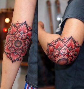 Тату на локте. Рекомендации по выбору эскиза татуировки.