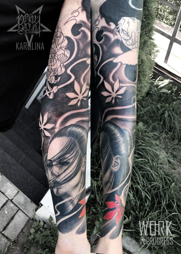 Bellissimo тату в японском стиле рукав