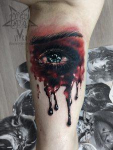 "Татуировка ""Глаз"" на бицепсе"